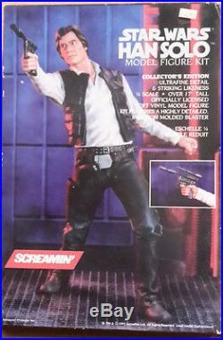 1992 STAR WARS Han Solo Vinyl 1/4 Scale Model Kit-Screamin'-FREE S&H (SWMO-3400)