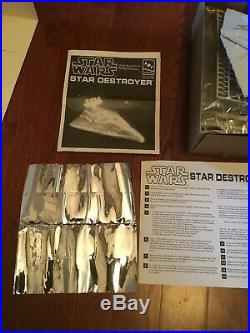 1995 AMT ERTL Star Wars Star Destroyer with Lighting System Box Set Model Kit