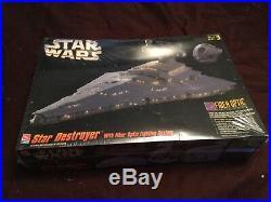 1995 Star Wars Star Destroyer Fiber Optic Lighting Model Kit #8782 NEW Sealed