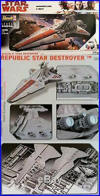 1/2700 Star Wars Republic Star Destroyer Plastic Model Kit 06053 Disney