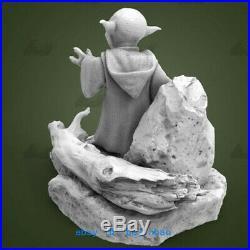 1/4 Star War Master Yoda Figure Resin Model Kits Unpainted 3D Printing
