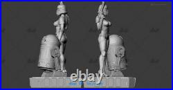 1/6 Scale Star War Female Soldier Resin Model Kits Unpainted 3D Printing R2