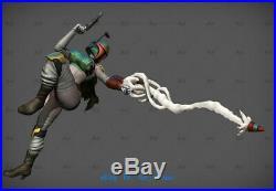 1/6 Star War Female Boba Fett Statue Resin Model Kits Unpainted 3D Printing