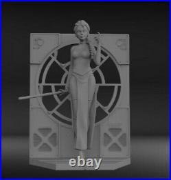 1x8 Fan Art Star Wars Darth Elsa Resin Model Garage Kit