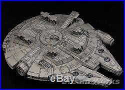 Award Winner Built Bandai 1/144 The Force Awaken Millennium Falcon Star War