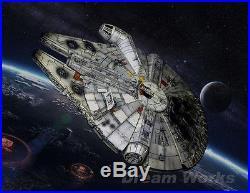 Award Winner Built Bandai Star War 1/144 The Force Awaken Millennium Falcon