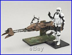 BANDAI 1/12 Star Wars Scout Trooper & Speeder Bike Plastic Model Kits Hobby NEW