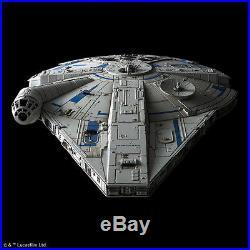 BANDAI Lando Millennium Falcon 1/144 scale Model Kit Star Wars Solo UK SELLER