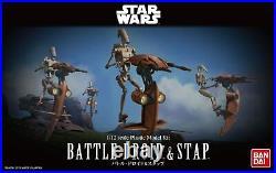BANDAI Star Wars Battle Droid & Stapp 1/12 Scale Plastic Model Kit JAPAN IMPORT