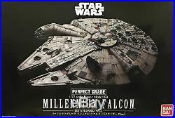 BANDAI Star Wars Perfect Grade Millennium Falcon 1/72 Scale Plastic Model Kit
