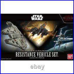 BANDAI Star Wars The Last Jedi 1/144 1/350 RESISTANCE VEHICLE SET Model Kit NEW