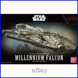 BANDAI Star Wars The Last Jedi MILLENIUM FALCON 1/144 Plastic Model