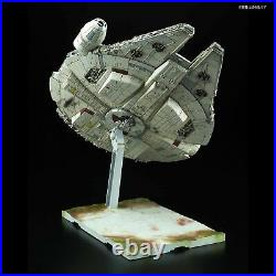 BANDAI Star Wars The Last Jedi Millennium Falcon 1/144 Plastic Model Kit