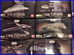 BANDAI Star Wars VEHICLE MODEL 001 to 015 Model Kits NEW USA Seller SET