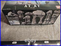 Bandai 1/144th Star Wars At-at Model And (2) At-st/ Snowspeeder Model Kits