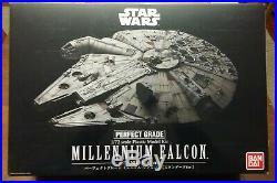 Bandai 1/72 Millennium Falcon Perfect Grade Model Kit + Custom Decals Star Wars