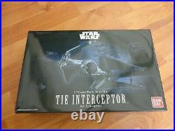 Bandai 1/72 Scale Tie Interceptor Star Wars Plastic Model Kit