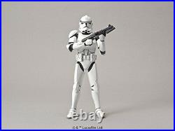 Bandai AF27 Star Wars Clone Trooper 1/12 Scale Plastic Model Free Shipping