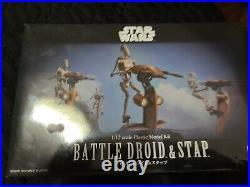 Bandai Star Wars 112 Scale Battle Droid & Stap Model Kit Unopened rare