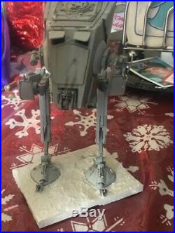 Bandai Star Wars AT-ST 1/48 Model BUILT & PAINTED Hoth