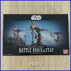 Bandai Star Wars Battle Droid & Stap 1/12 scale Plastic Model Kit New Sealed