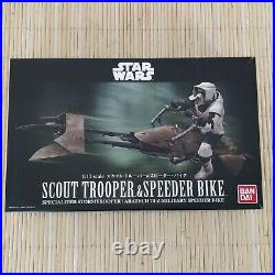 Bandai Star Wars Scout Trooper & Speeder Bike 1/12 scale Model Kit New Starwars