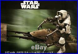 Bandai Star Wars Scout Trooper & Speeder Bike 1/12 scale model