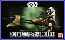 Bandai Star Wars Scout Trooper and Speeder Bike 112 Scale Model Kit