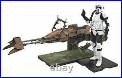 Bandai Star Wars Scout Trooper and Speeder Bike 1/12 Scale Plastic Model Kit