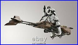 Bandai Star Wars Scout Trooper and Speeder Bike 1/12 Scale Plastic Model Kit new