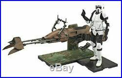 Bandai Star Wars Scout Trooper and Speeder Bike Model Kit 1/12 Scale USA Seller