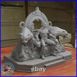 Black Panther Throne Diorama Figure Custom Resin Model Kit DIY Paint