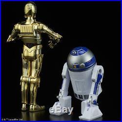 C-3PO & R2-D2 Bandai 1/12 Scale Model Kit STAR WARS Droids UK SELLER