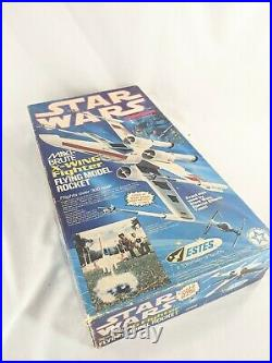 Estes Model Rocket Star Wars Maxi-Brute X-Wing Fighter 1302 Partially Built Used