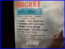 Estes SR-71 Blackbird Flying Model Rocket Kit #1942 New Old Stock