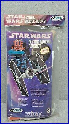 Estes Star Wars T. I. E Fighter Vintage Flying Model Rocket Kit No. 1299 (b)
