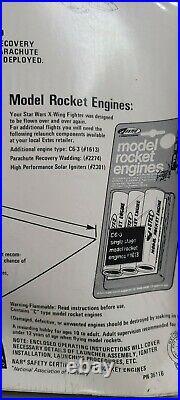 Estes Star Wars X-Wing Fighter model rocket kit #1423 Vintage 1977 NEW SEALED