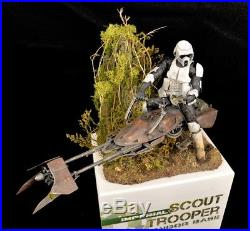 Expertly Built Bandai Scout Trooper in 1/12th scale from ModelerV Studios