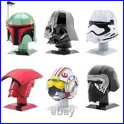 Fascinations Metal Earth Star Wars Helmet 3D Laser Cut Steel Puzzle Model Kit