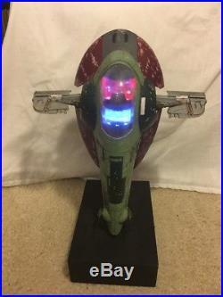 Fine Molds Star Wars 1/72 Boba Fett Slave 1 Model FULLY BUILT, PAINTED, LIGHTS
