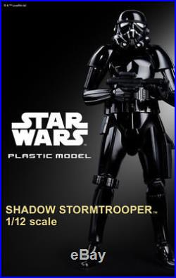 Japan P/BANDAI STAR WARS 1/12 Scale Plastic Model SHADOW STORMTROOPER