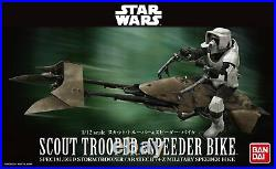 Japan Plamodel BANDAI Star Wars Plastic Model 1/12 Scout Trooper & Speeder Bike
