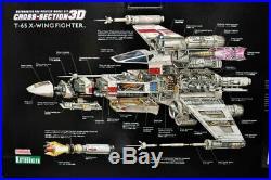 Kotobukiya T-65 X-Wing Fighter Cross Section Model Kit