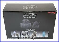 Kotobukiya Yoda & R2-D2 Dagobah Pack ARTFX+ 1/10th Scale Model Kit Statue