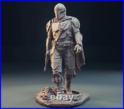 MANDALORIAN STAR WARS Custom Resin Model Kit Figure/Statue 1/10 200mm