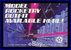 MINT 1977 Star Wars ESTES Proton Torpedo MODEL ROCKET Store Display MOVIE POSTER