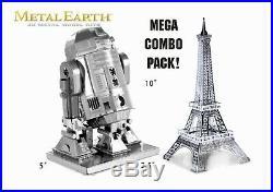 Metal Earth MEGA MODEL COMBO MML016 Eiffel Tower MML250 R2D2 Fascinations KITS