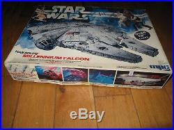 Mint Sealed 1979 Vintage Star Wars MPC Millenium Falcon Illuminated Model Kit