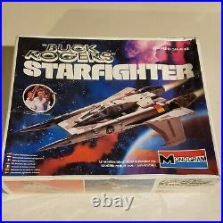 Monogram Buck Rogers Starfighter Plastic Model Kit Sealed Box 1979