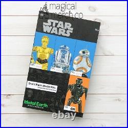 New 2020 Disney Parks Star Wars Droid Model Kits Metal Earth C-3PO R2 BB-8 K-2SO